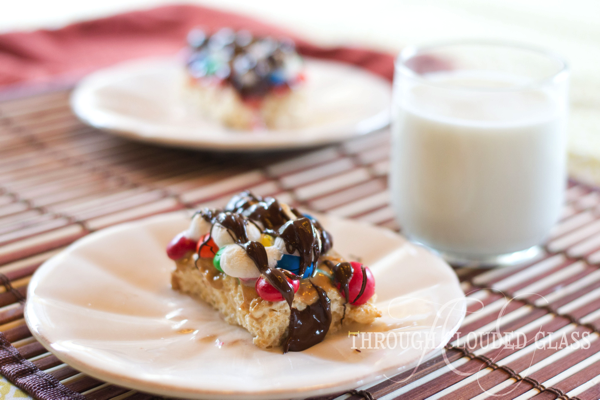 Smothered Rice Krispy Treats | Through Clouded Glass