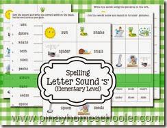 Spelling Letter Sound S