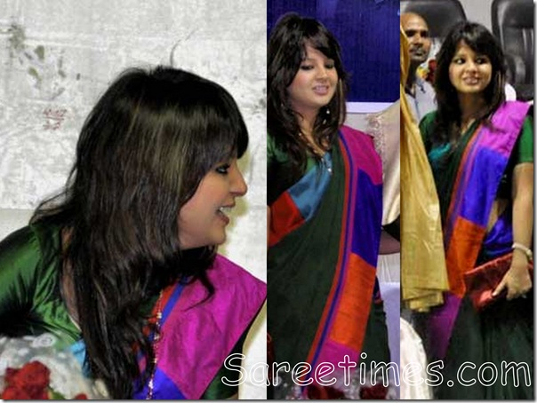 Sakshi_Green_Saree
