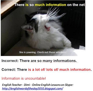Information is uncountable