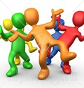 16517-Five-Different-Colored-And-Diverse-People-Dancing-And-Having-Fun-At-A-Party-Clipart-Illustration-Graphic