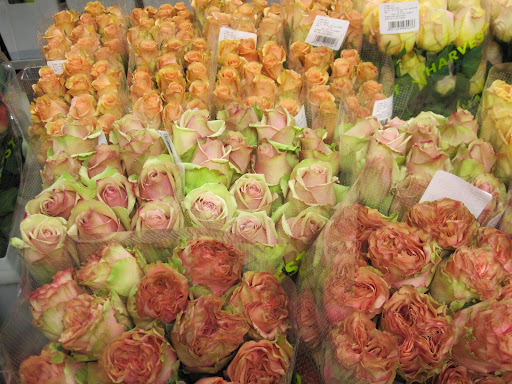 The price of the roses range from 65 cents to $3 a stem.