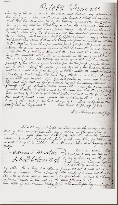 Benjamin Fall sues James Irwin 1835_0002