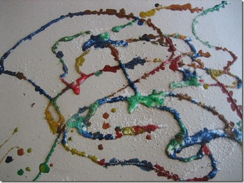 glue + salt + watercolours