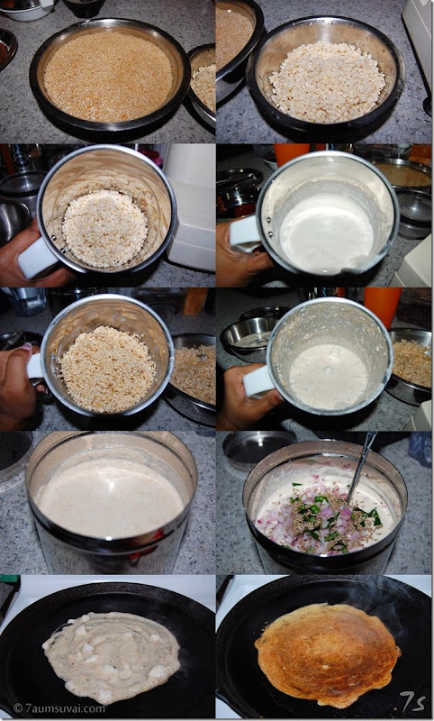Cracked wheat dosai process