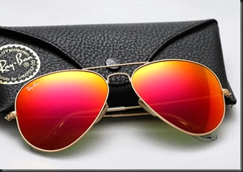 ray-ban-aviator-colored-mirror-sunset red