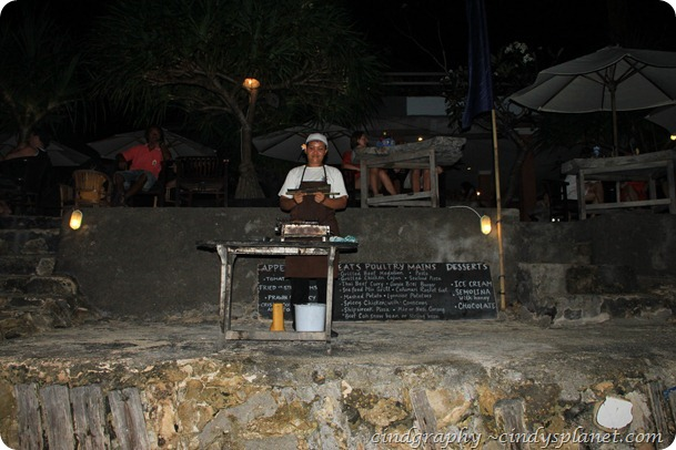 Agus Shipwreck Nusa Lembongan Barbeque Area