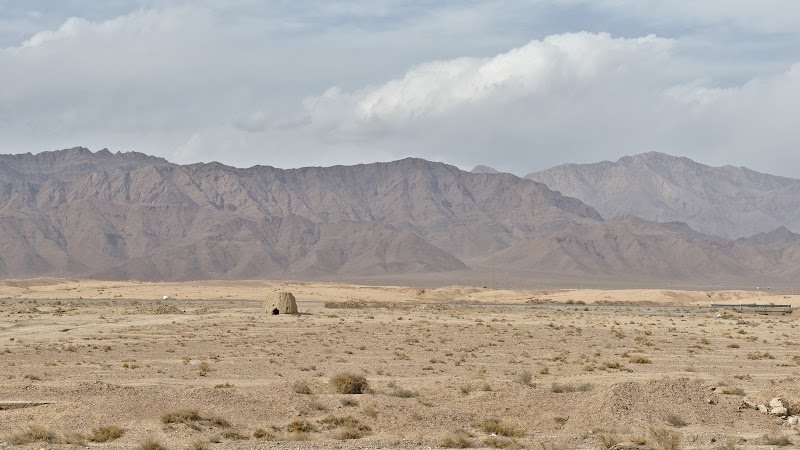 In desert.