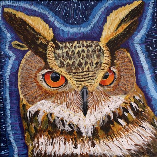vicki maheu owl painting