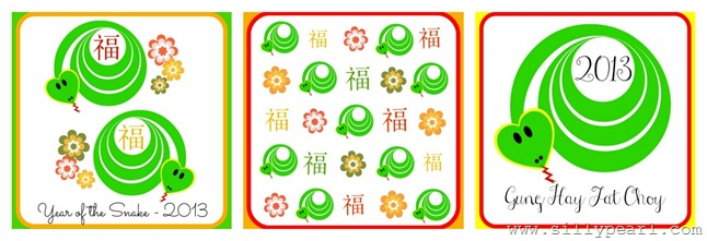 The Silly Pearl - Year of the Snake Free Printable Red Envelopes