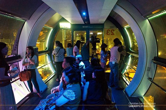 Inside Singapore Flyer's Capsule