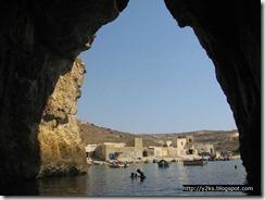 Il mare interno e il villaggio dei pescatori (pirati ?) - Gozo