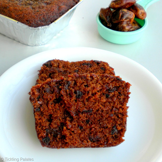 Eggless Dates Cake