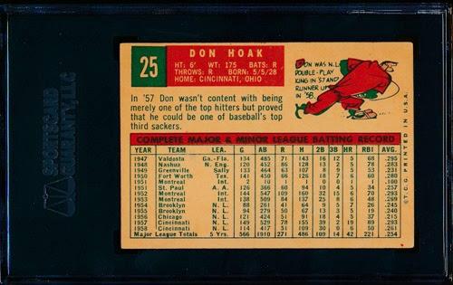 1959 Topps 25 Don Hoak back