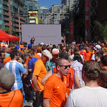 Brazen Head dutch fans watching HOLLAND VS COSTA RICA in Toronto, Ontario, Canada