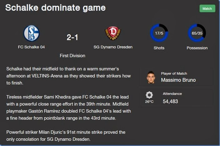 Schalke dominate game