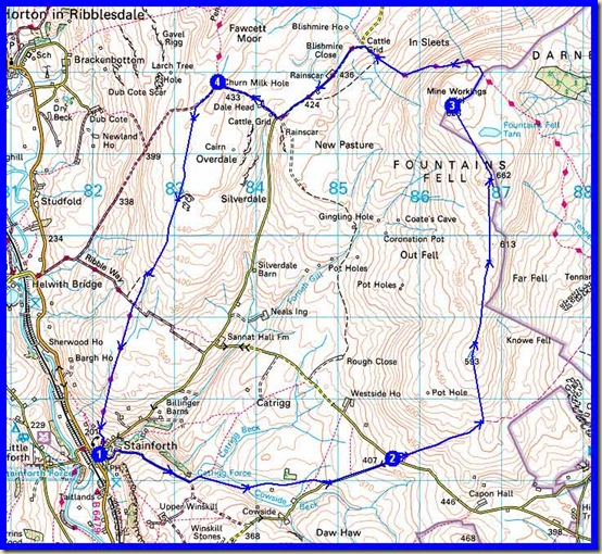 Our route - 21km, 570 metres ascent, 5.5 hours