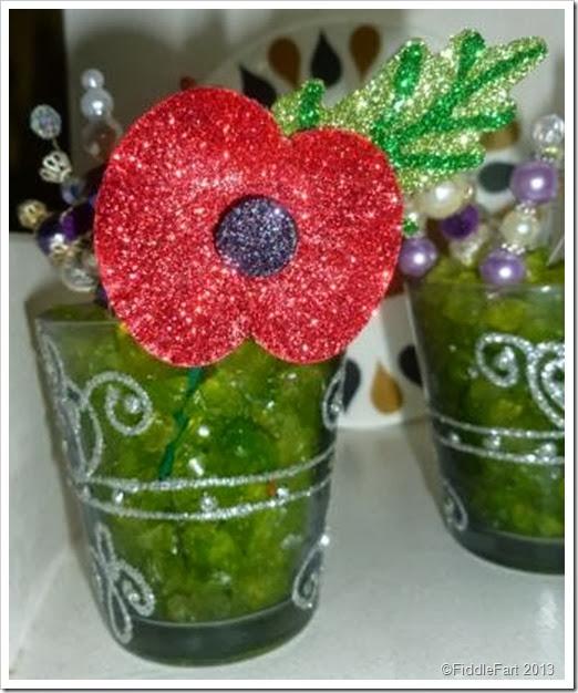 Glittered remberance poppy