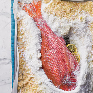 Salt-Roasted Whole Red Snapper