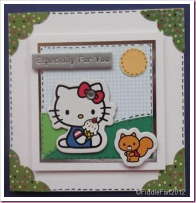 Hello Kitty Birthday card.
