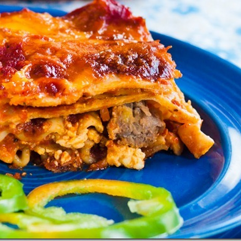 Whole wheat and white Lasagna