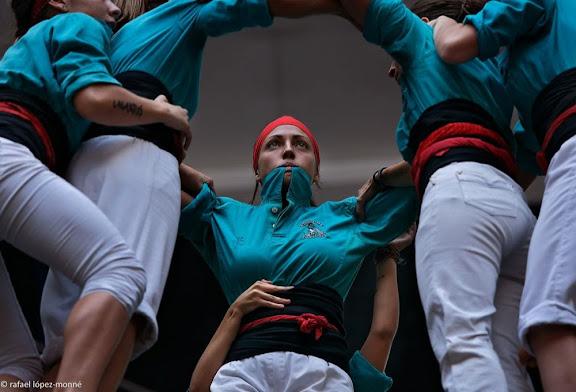 Castellers de Vilafranca.XXIVè Concurs de Castells de Tarragona. Tarraco Arena Plaça. Tarragona, Tarragonès, Tarragona