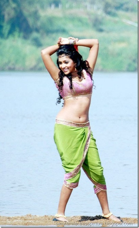 sexy-amala-paul-hot-navel-stills-in-vettai