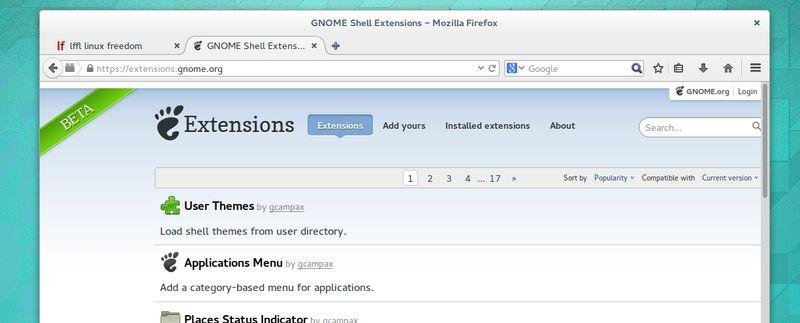 Ubuntu GNOME 14.04 Trusty - Estensioni