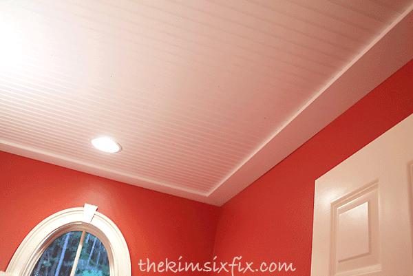 Adding ceiling trim boards