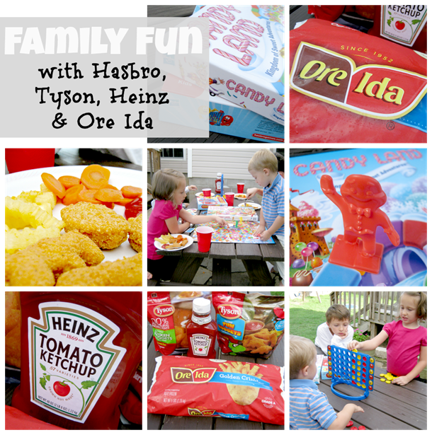 family fun with Tyson, Heinz, Ore Ida &amp; Hasbro #DipDipHooray