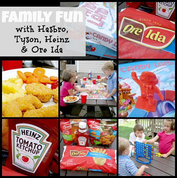 family fun with Tyson, Heinz, Ore Ida & Hasbro #DipDipHooray