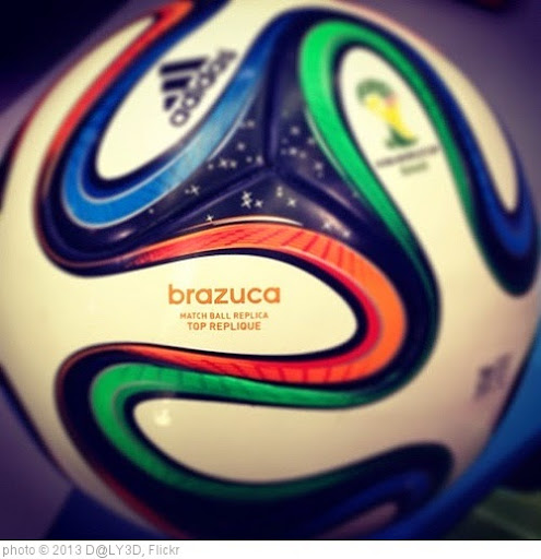 'Brazuca fifa world cup official ball brazil 2014 #ball #brazuca#foot #football #worldcup #world_cup#brazil14 #brazil2014 #brazilwc14 #qatar #doha #brazil#iphone #instaball #instagram #instaqatar #instadoha #fifa#adidas #new #instafootball #instabrazil #in' photo (c) 2013, D@LY3D - license: https://creativecommons.org/licenses/by/2.0/