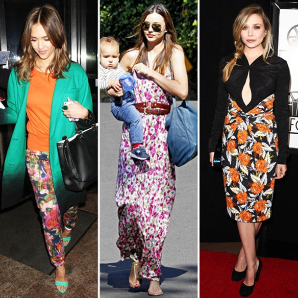 Celebrities-Wearing-Floral-Prints-Winter-2012