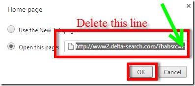delete delta home page