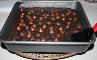 Secret Ingredient Decadent Triple Chocolate Brownie - out of oven B