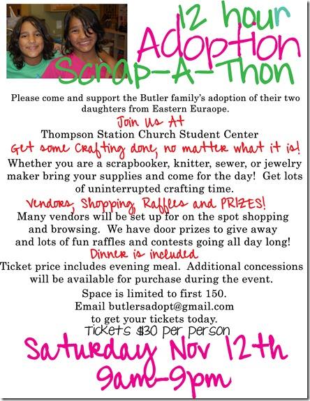 craft fundraiser flyer copy