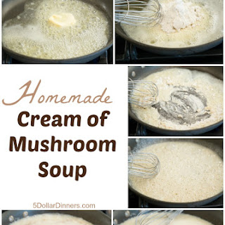 Homemade Cream of Mushroom Soup