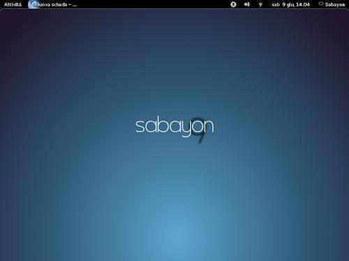 Sabayon Linux 9 - Gnome