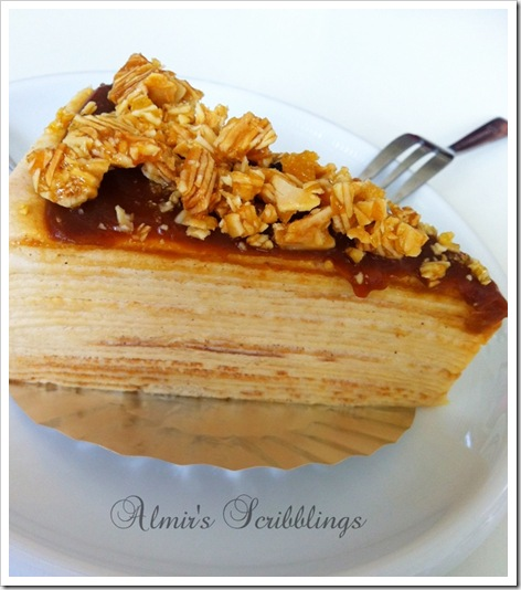 Almons salted caramel mille crepe food foundry