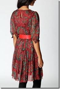 Karen Paisley Print Belted Chiffon Dress2