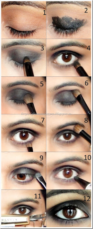 Intense Black Smokey Eyes Pictorial