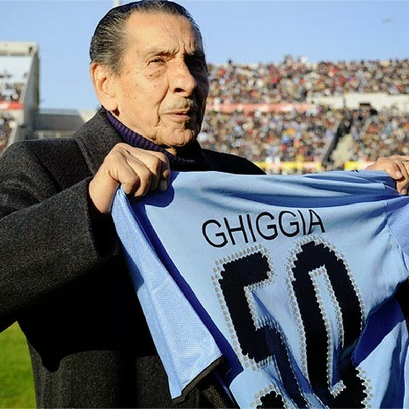 Alcides Ghiggia, o último vencedor vivo da Copa de 1950