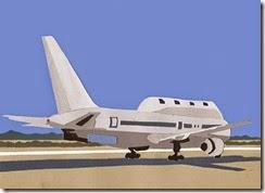 2006 avión de vigilancia collage de papel