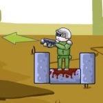 soldado contra zumbis