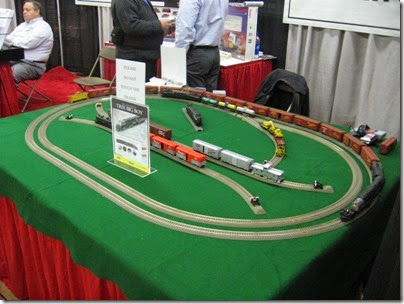 IMG_5583 Trix HO-Scale Display Layout featuring a Union Pacific 4-8-8-4 Big Boy & a Pennsylvania GG1 Electric at the WGH Show in Portland, OR on 2-18-2007