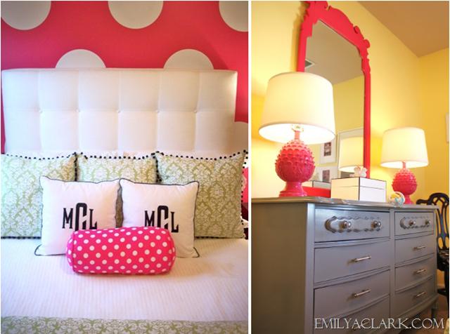 girls polka dot bedroom