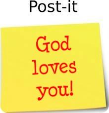 God loves you post it