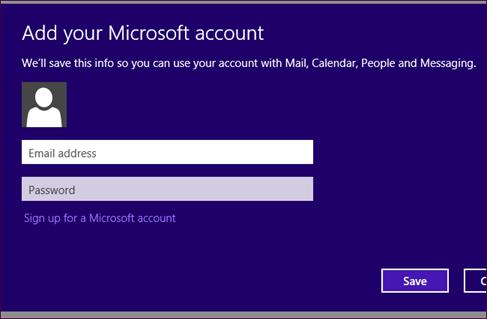 add your microsoft account