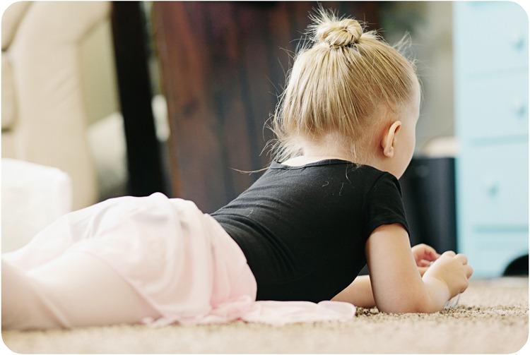 lounging balerina
