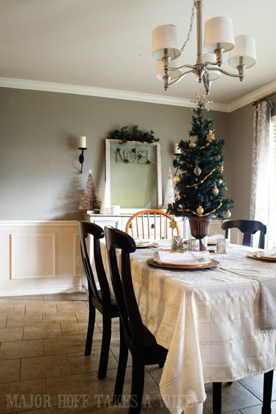 Silver and Gold Tablescape for Christmas